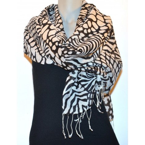 Pashmina Printed: Wool - Silk