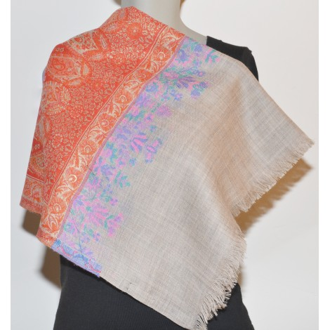 Shawl Printed: 100% Wool